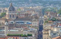 View from Altare della Patria on Via del Corso & Piazza/Porta del Popolo, Rome, ITALY (brun@x - Africa Wildlife) Tags: 2019 brunoportier italy italia italie bruno portier