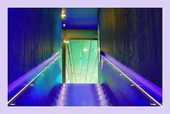high lights (christikren) Tags: austria architecture abstract ausstellung art blue christikren colour colorful design exhibition geometry green international kunstmuseum lines light modern museum österreich panasonic photography perspective reflections urban arselectronica linz stairs stairsup stairway