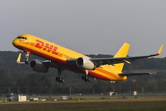 G-DHKP Boeing B757-223(PCF) EGPH 28-06-19 (MarkP51) Tags: gdhkp boeing b757223pcf b757 dhlair d0 dhk cargo freighter edinburgh airport edi egph scotland airliner aircraft airplane plane image markp51 nikon d500 nikonafp70300fx sunshine sunny