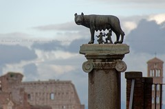 Rómulo and Remo statue, near Capitole, Rome, ITALY (brun@x - Africa Wildlife) Tags: 2019 brunoportier bruno portier italy italia italie