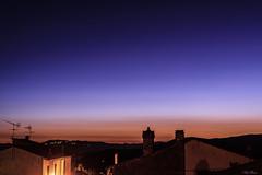 ORA BLU   ---   BLUE HOUR (Ezio Donati is ) Tags: sera evening panorama landscape casa home colline hills cieli sky notturno night italia lazio canalemonterano tuscia riservadimonterano