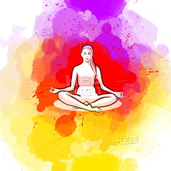 Sitting yoga pose on colorful background (Hebstreits) Tags: activity art background balance beautiful beauty body calm creative drawing drawn energy exercise female figure fitness girl hand harmony health healthy icon illustration isolated leisure lifestyle lotus meditate meditating meditation mind nature outline people pose poses position relax relaxation silhouette sitting sport training vector wellness white woman yoga young zen