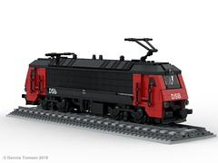 DSB Litra EA (dennis.tomsen) Tags: lego train locomotive railroad danish dsb ea moc render studio partdesigner legodigitaldesigner ldd electric litra henschelsohn scandia