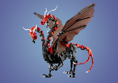 The Brothers (dviddy) Tags: bionicle lego herofactory dragon bzpower dviddy deevee bzp bioniclemoc legomoc fantasy scifi wings middleages castle myowncreation red animal beast fantasycreature