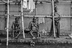After bath (karmajigme) Tags: men human portrait varanasi uttarpradesh india streetphotography monochrome travel blackandwhite noiretblanc nikon