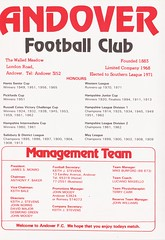 Andover vs AFC Totton - 1982 - Page 2 (The Sky Strikers) Tags: andover fc afc totton the southern football and hampshire league walled meadow lion matchday 20p magazine