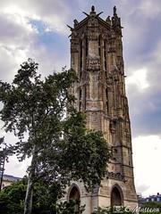 180718-113 Tour Saint-Jacques (2018 Trip) (clamato39) Tags: olympus paris france voyage trip europe tour tower ville city urbain urban