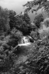 Milltown waterfall~ Explored    ~HMBT (Wendy:) Tags: explored dodder offshoot waterfall mono ir nik coloreffects milltown hmbt
