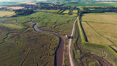 Aerial Views of Thornham (Martin Sutton) Tags: thornhamstaithe norfolk uk coast coastal harbour aerial drone dji phantom4 marsh saltings