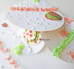 circle play (contemporary embroidery) Tags: surfacedesign embroidery handmade paper artistbook book