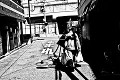 Osaka Raw (Victor Borst) Tags: osakaraw street streetphotography streetlife reallife real realpeople asian asia asians faces face candid travel travelling trip traveling urban urbanroots urbanjungle blackandwhite bw mono monotone monochrome osaka shinimamiya raw portrait xpro2 expression expressions fuji fujifilm