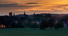 Oxford Sunset (jip_and_elsewhere) Tags: oxford oxforduniversity sunset sun sunny colourful colour colours sky skyline nightsky evening golden hour landscape cityscape england uk canon fd 135mm canonfd135mm28