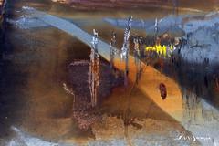 Groupe de guerriers Massaï traversant une autoroute eu retour d'une journée de chasse (guysamsonphoto) Tags: guysamson abstrait abstract painting peintugraphie