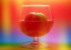 Magic Rainbow Apple Juice (Ronnie Gaye) Tags: colour colourful rainbow apple glass water bright slidersunday