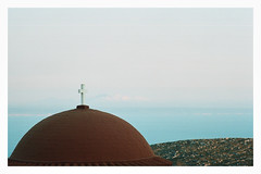 0068-0302-21 (jimbonzo079) Tags: building church temple orthodox architecture agios saint savvas monastery sea view seascape water hill landscape above kalymnos κάλυμνοσ island dodecanese 2018 aegean greece mountain canon ae1 fd 135mm f25 lens trip travel world europe analog film 35mm 135 color colour art tree vintage old hellas ελλάσ ελλάδα summer vacation kodak portra 160 expired canonae1 newportra160 kodakportra160 newkodakportra160