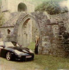 la belle et la bête (l'imagerie poétique) Tags: polaroidsx70 polaroidoriginalsfilm elegance porsche ruins 1212project