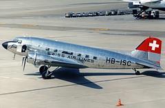 Verein Freunde der Swissair Douglas DC-3 HB-ISC (gooneybird29) Tags: flugzeug flughafen aircraft airport airplane airline zrh swissair douglas dc3 hbisc