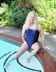 Poolside (czayuftk74) Tags: crossdressing tgirl onepieceswimsuit transvestite m2f