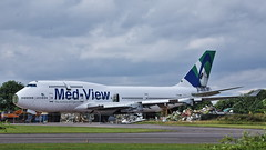 TF-AMV Boeing 747-412 msn:28022/1082 Med-View Airlines / Air Atlanta Iceland (DC-7C) Tags: aircraft aeroplane plane airplane jet airliner tfamv 747 b747 747412 b744 28022 1082 medview mev airatlanta iceland abd kemble cotswold egbp gloucestershire boeing