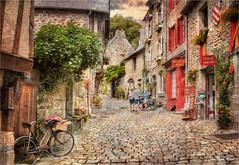 The bicycle (Jean-Michel Priaux) Tags: dinan bretagne france village medieval patrimony patrimoine way rue poetic rural priaux path pathway