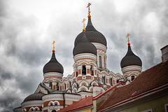 Alexander Nevsky Cathedral (ABWphoto!) Tags: europe estonia talin church architecture steeple orthodox russianothodox christian historic clouds landmark nobody outdoors touristdestination