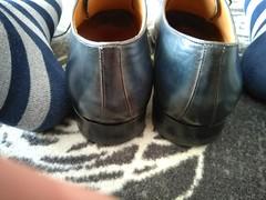 Hotel shoe play 17 (Adam11051983) Tags: blue captoes dress feet foot footwear formal lace leather men mens shoe shoes sock socks