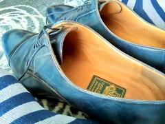 Hotel shoe play 16 (Adam11051983) Tags: blue captoes dress feet foot footwear formal lace leather men mens shoe shoes sock socks