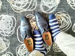 Hotel shoe play 11 (Adam11051983) Tags: blue captoes dress feet foot footwear formal lace leather men mens shoe shoes sock socks