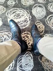 Hotel shoe play 1 (Adam11051983) Tags: blue captoes dress feet foot footwear formal lace leather men mens shoe shoes sock socks