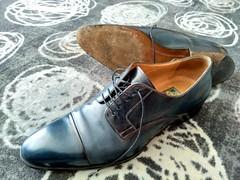 Hotel shoe play 23 (Adam11051983) Tags: blue captoes dress footwear formal lace leather men mens shoe shoes sole