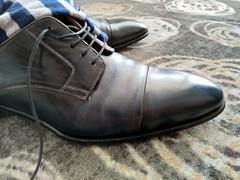 Hotel shoe play 22 (Adam11051983) Tags: blue captoes dress footwear formal lace leather men mens shoe shoes sock socks