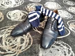 Hotel shoe play 21 (Adam11051983) Tags: blue captoes dress footwear formal lace leather men mens shoe shoes sock socks
