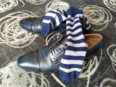 Hotel shoe play 19 (Adam11051983) Tags: blue men leather socks shoe sock shoes dress lace formal footwear mens captoes