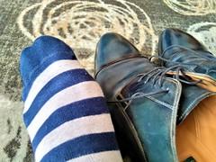 Hotel shoe play 15 (Adam11051983) Tags: blue captoes dress feet foot footwear formal lace leather men mens shoe shoes sock socks sole