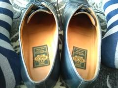 Hotel shoe play 14 (Adam11051983) Tags: blue captoes dress feet foot footwear formal lace leather men mens shoe shoes sock socks
