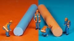 Macro Monday - Complementary Colours (Orange/Blue) (J.Weyerhäuser) Tags: blue complementarycolours h0 hmm macromondays orange preiser tinypeople