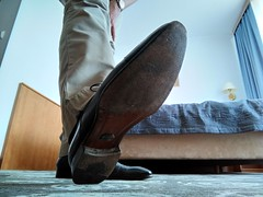 Hotel shoe play 10 (Adam11051983) Tags: blue captoes dress feet foot footwear formal lace leather men mens shoe shoes sole
