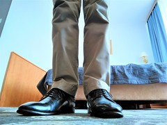 Hotel shoe play 8 (Adam11051983) Tags: blue captoes dress feet foot footwear formal lace leather men mens shoe shoes sock
