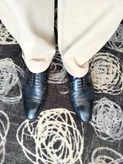 Hotel shoe play 4 (Adam11051983) Tags: blue captoes dress feet foot footwear formal lace leather men mens shoe shoes sole