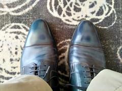 Hotel shoe play 2 (Adam11051983) Tags: blue captoes dress feet foot footwear formal lace leather men mens shoe shoes sock