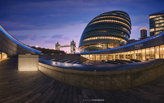 The Scoop (Antoni Figueras) Tags: london unitedkingdom england cityscape nightscape thescoop cityhall towerbridge architecture bluehour illuminated clouds empty nopeople dramaticsky sunrise dawn panorama antonifigueras sonya7rii sony1635f4 city center europe outdoors modern bridge government building