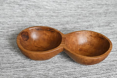 Double apple bowl (maddpete) Tags: apple bowl wood handcarved