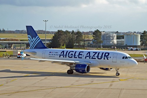 Aigle Azur F-HBMI Airbus A319-114 cn/639 wfu 13 Oct 2017 std at CHR 27-10-2017 @ LFPO / ORY 02-03-2015