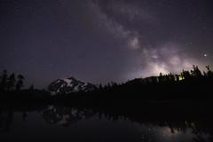 (dream.weaver.photography) Tags: shuksan mountain mount lake reflection milkyway glow stars night sky trees washington wa canon tamron 6d july