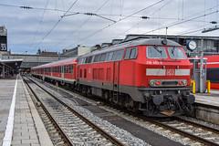 218 493-5 DB Regio München Hbf 01.03.15 (Paul David Smith (Widnes Road)) Tags: munich bavaria germany 2184935 db regio münchen hbf 010315 v160 br218