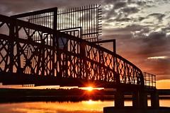 Same Sun, Same Sunset, Different View (Mr_Pudd) Tags: bridge steel overspill outfall overflow yorkshirewater nikond750 nikon sun sunset huddersfield linthwaite blackmoorfoot afsnikkor50mmf14g