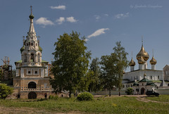 Church and Monastery (Lyutik966) Tags: uglich russia temple church monastery architecture building dome religion orthodoxy nature tree