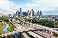 Which road will you take? (RaulCano82) Tags: highway railway bridge waterway raulcano drone mavic air mavicair dji i45 city skyline view aerial texas tx road busy interchange traffic landscape bayou summer hou htx houston houstontx htown houstontexas houstonskyline downtownhouston downtown dthtx
