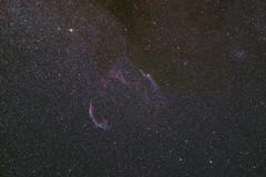 Veil Nebula (bencbright) Tags: veil nebula cygnus supernova remnant cygnusloop witchsbroomnebula longexposure faint astrophoto night astro astrophotography ioptron skytracker pro samyang samyang135mm fuji fujifilm 135mm widefield