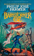 """""""A Barnstormer in Oz"""" by Philip Jose Farmer.  NY: Berkley Books, Sept., 1982. Trade paperback. First edition. Cover Art by Don Ivan Punchatz. (lhboudreau) Tags: tradepaperback softcover digestsize paperback paperbacks vintagepaperback vintagepaperbacks vintagepaperbackart paperbackart coverart vintagepaperbackcovers paperbackcover paperbackcovers vintagepaperbackcover paperbackbook paperbackbooks sciencefiction sciencefictionnovel sciencefictionstory fantasynovel berkley berkleybook berkleybooks abarnstormerinoz barnstormerinoz oz philipjosefarmer pjfarmer scarecrow tinman firstpublicationanywhere firstedition 1982 september1982 ozbook barnstormer plane airplane biplane illustration art artwork bookart punchatz donivanpunchatz arationalizationandextrapolation splitlevelcontinuum"""